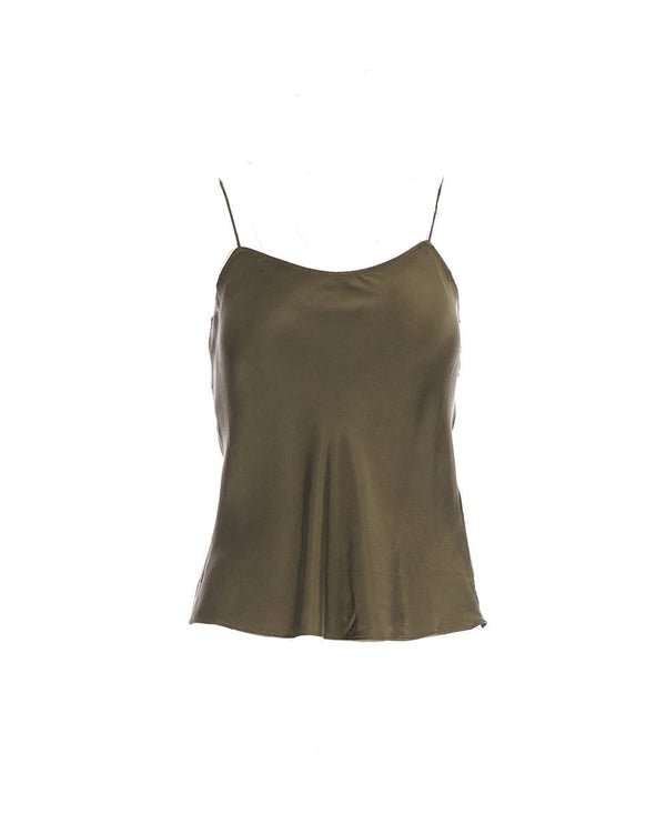 Simple Military Green Cami