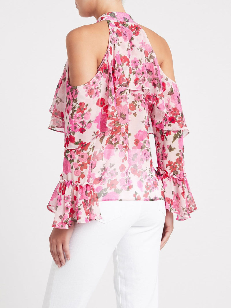 MISA LOS ANGELES - Frieda Cold Shoulder Floral Blouse