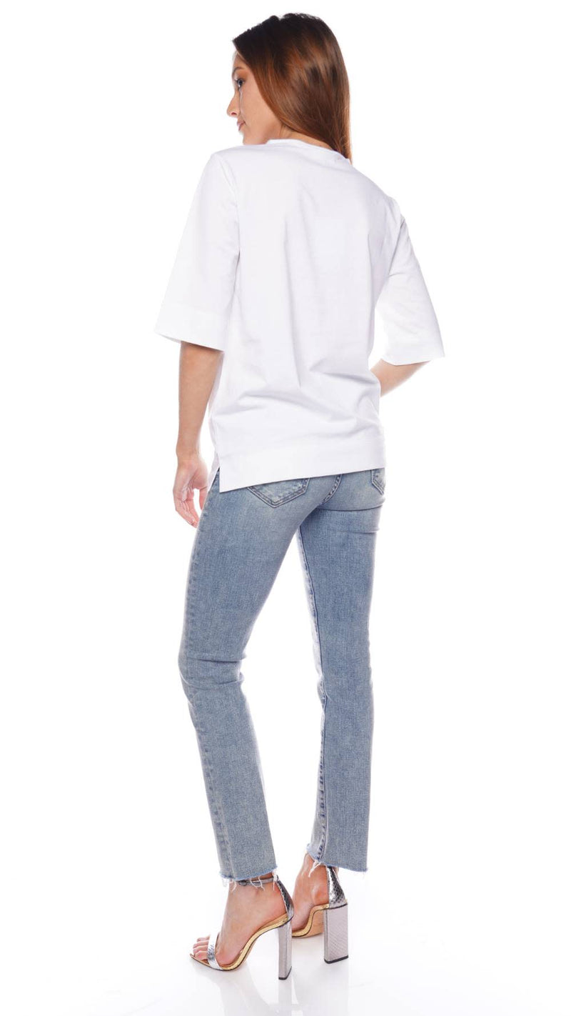 GANNI Basic Cotton Jersey Twisted Tee