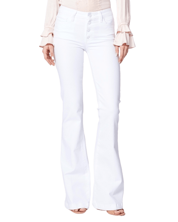 PAIGE - Genevieve Petite Exposed Buttonfly Jeans