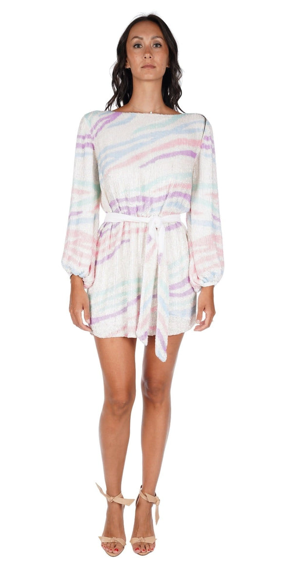 Retrofête - Grace Rainbow Sequin Mini Dress