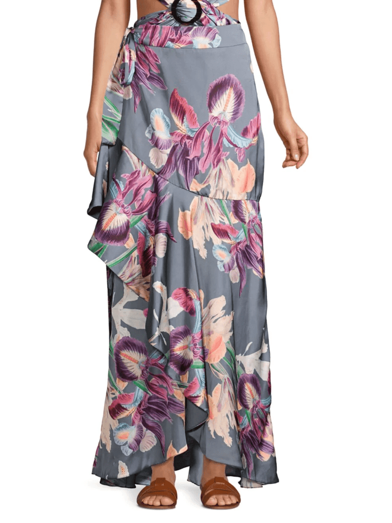 PatBO - Grace Print Wrap Skirt
