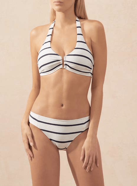 Heidi Klein - NAUTICAL STRIPE U-BAR BIKINI