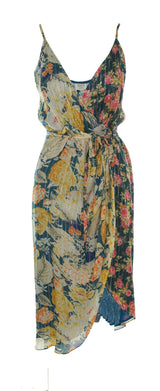 Hemant and Nandita - Della Floral Wrap Midi Dress