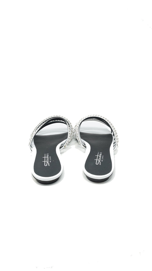 Sebastian - Unchained Flat Sandal with Silver Chain