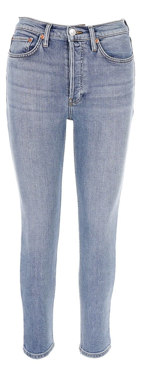 RE/DONE 90S High Rise Ankle Crop Mid 90S Jeans