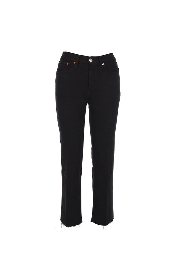 RE/DONE - 70S Stove Pipe Black Jeans