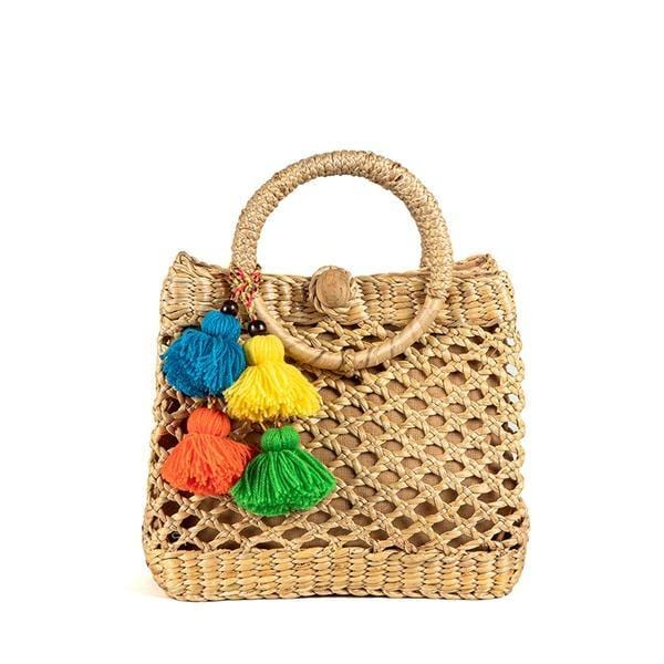 Koh Samui Basket With Multi Tassels