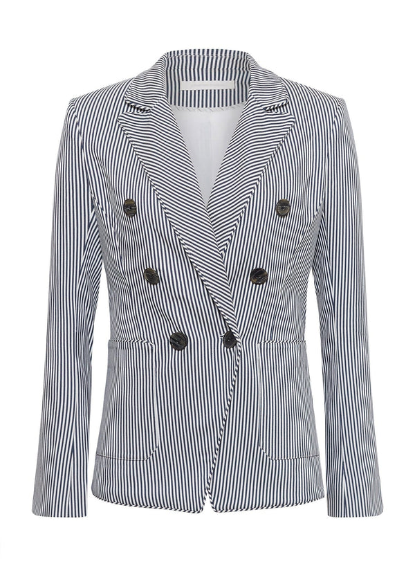 Jayden Cotton Stripe Blazer