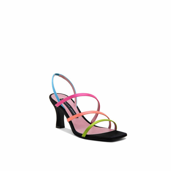 Kiri Multicolor Satin Sandals