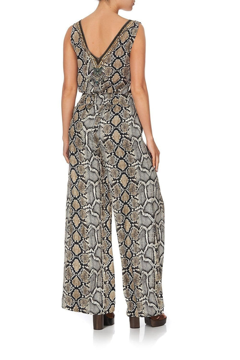 Camilla - Lace Up Front Flared Pant
