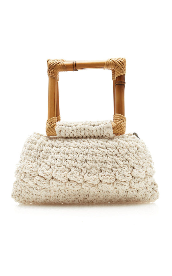 Ebano Macrame Bamboo Handle Bag