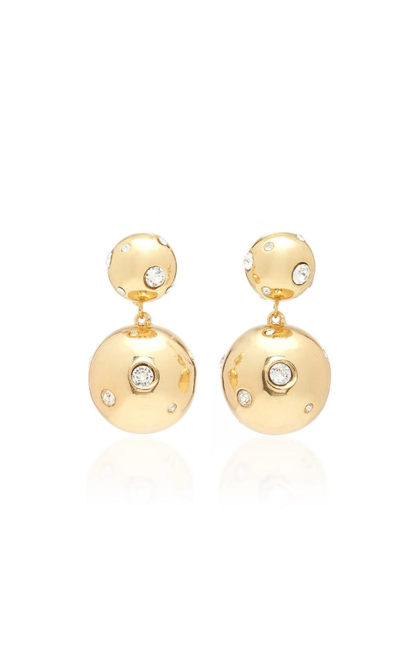 I See Stars Gold Plated Crystal Embellished Bon Bon Earrings