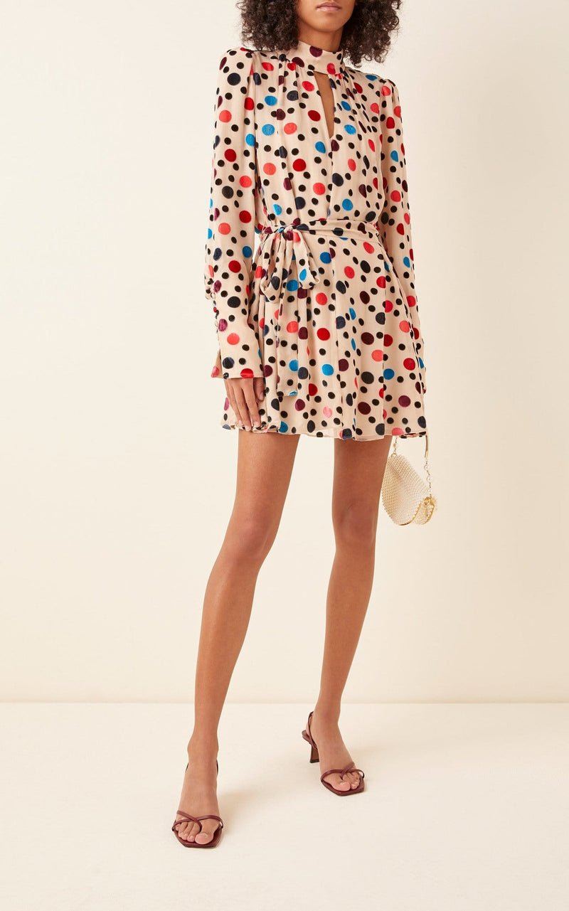 SALONI - Tania Dot Mini Dress
