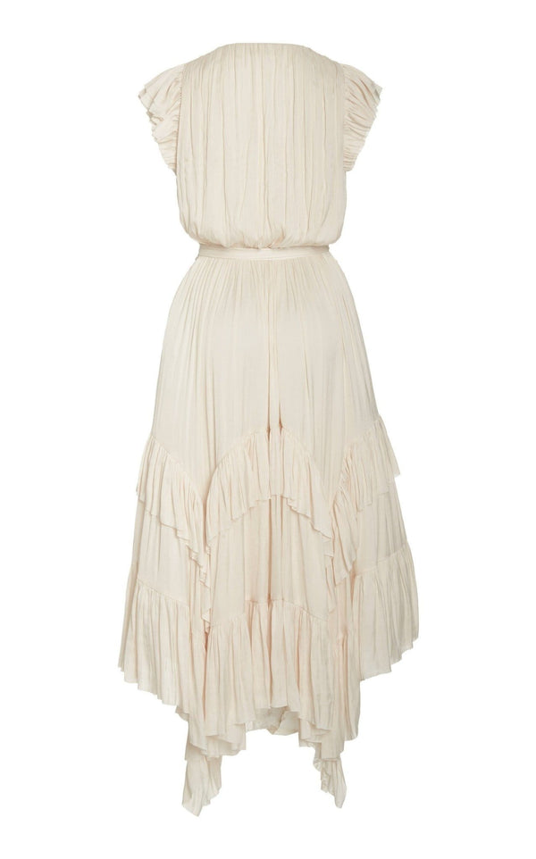 Abella Ruffled Midi Dress