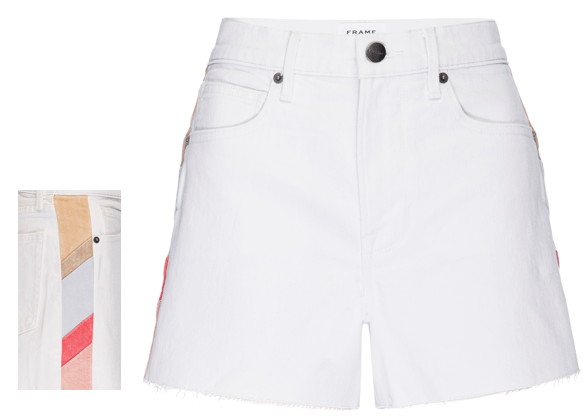 FRAME - Le Brigette Color Block Shorts