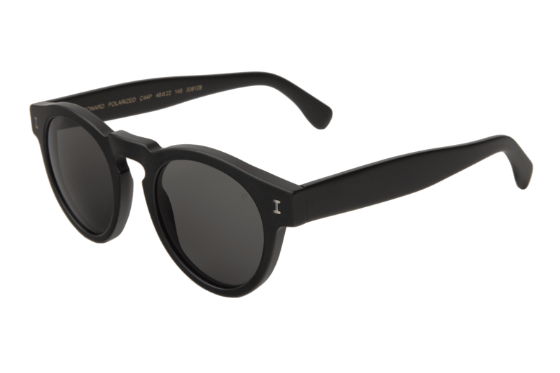 Illesteva Leonard Matte Black Polarized Sunglasses