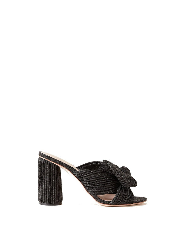 Loeffler Randall - Black Metallic Pleated Penny Knot Mule