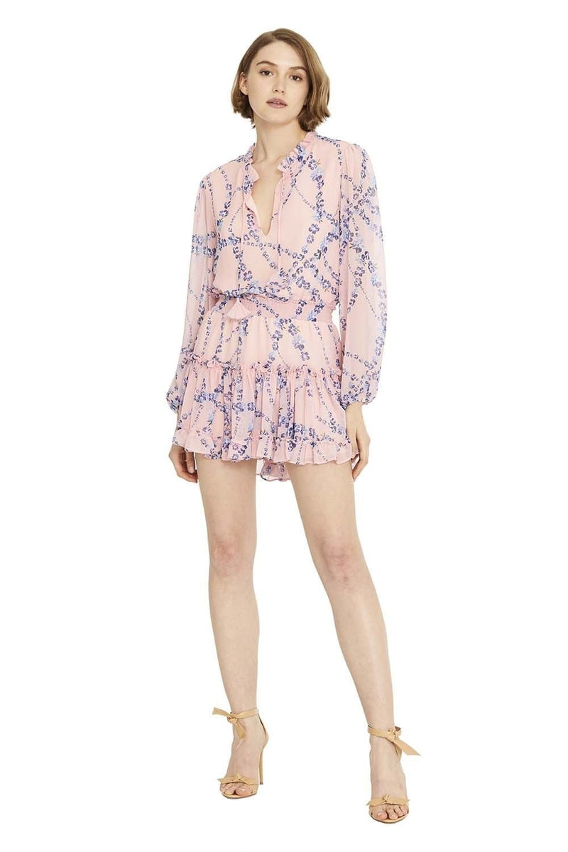 Lorena Pink Floral Mini Dress