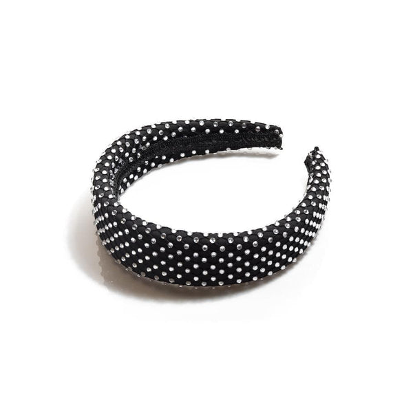 Lele Sadoughi - Jet Crystal Dot Alice Headband