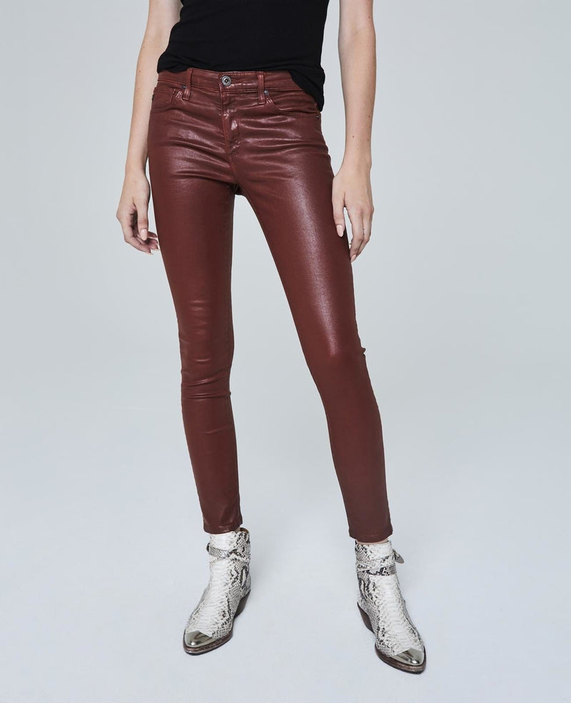 Adriano Goldschmied AG FARRAH HIGH RISE SKINNY ANKLE LEATHERETTE