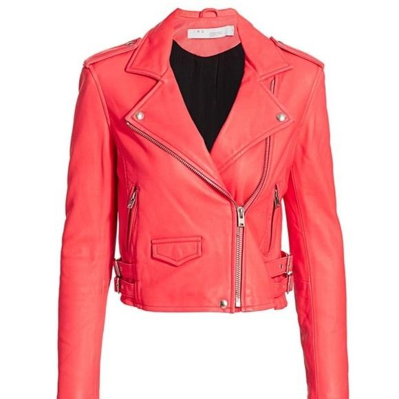 Asheville Leather Jacket in Fuschia