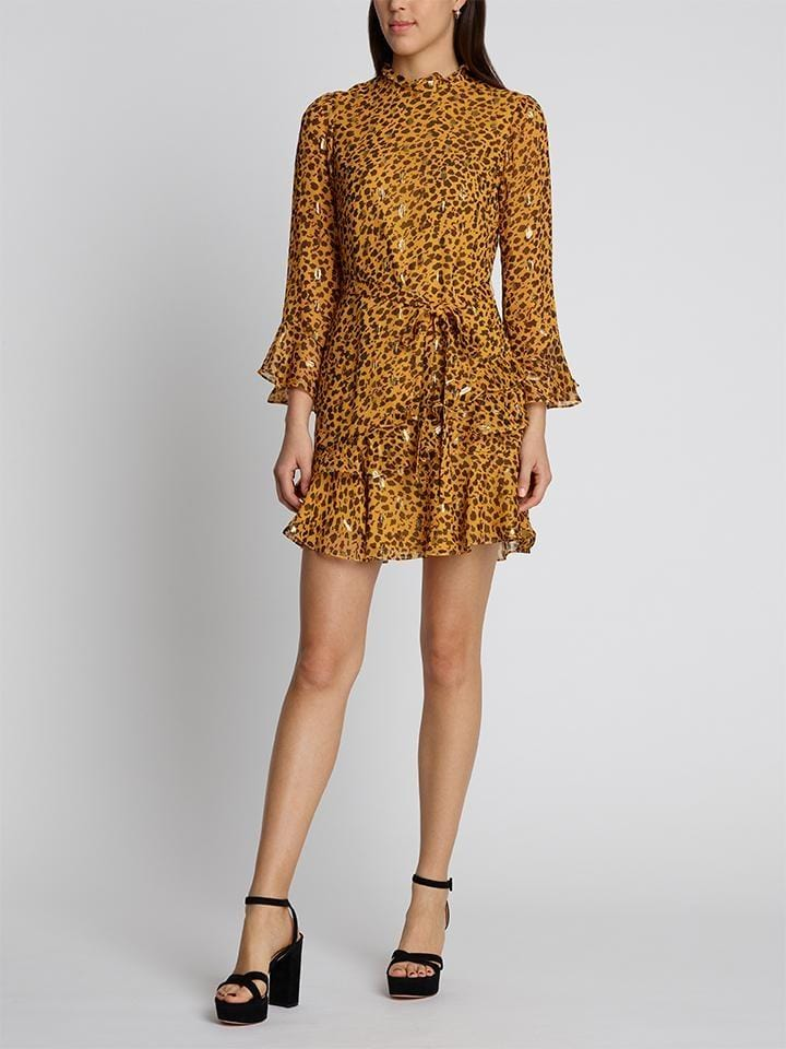 SALONI - Marissa Gold Camo Mini Dress