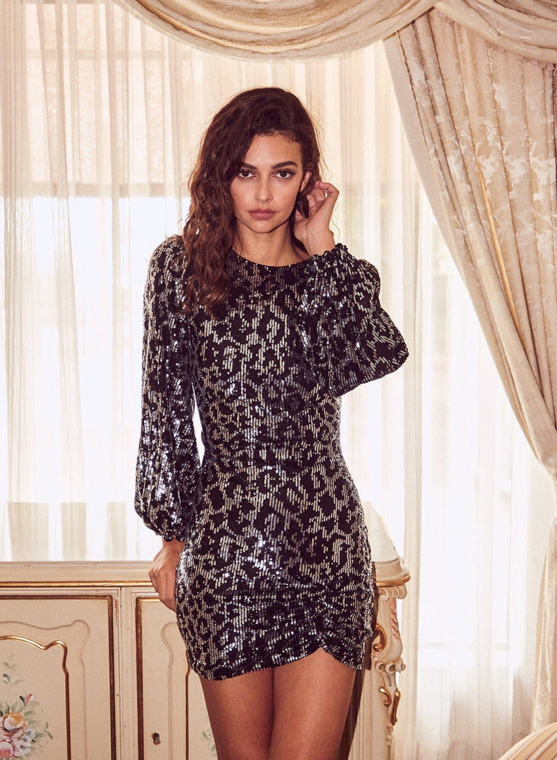 Maura Leopard Mini Dress