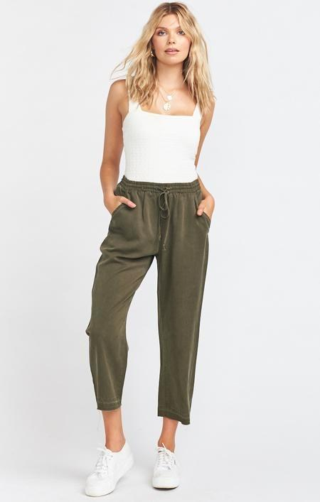 Show Me Your Mumu - Army Green Tencel Pant