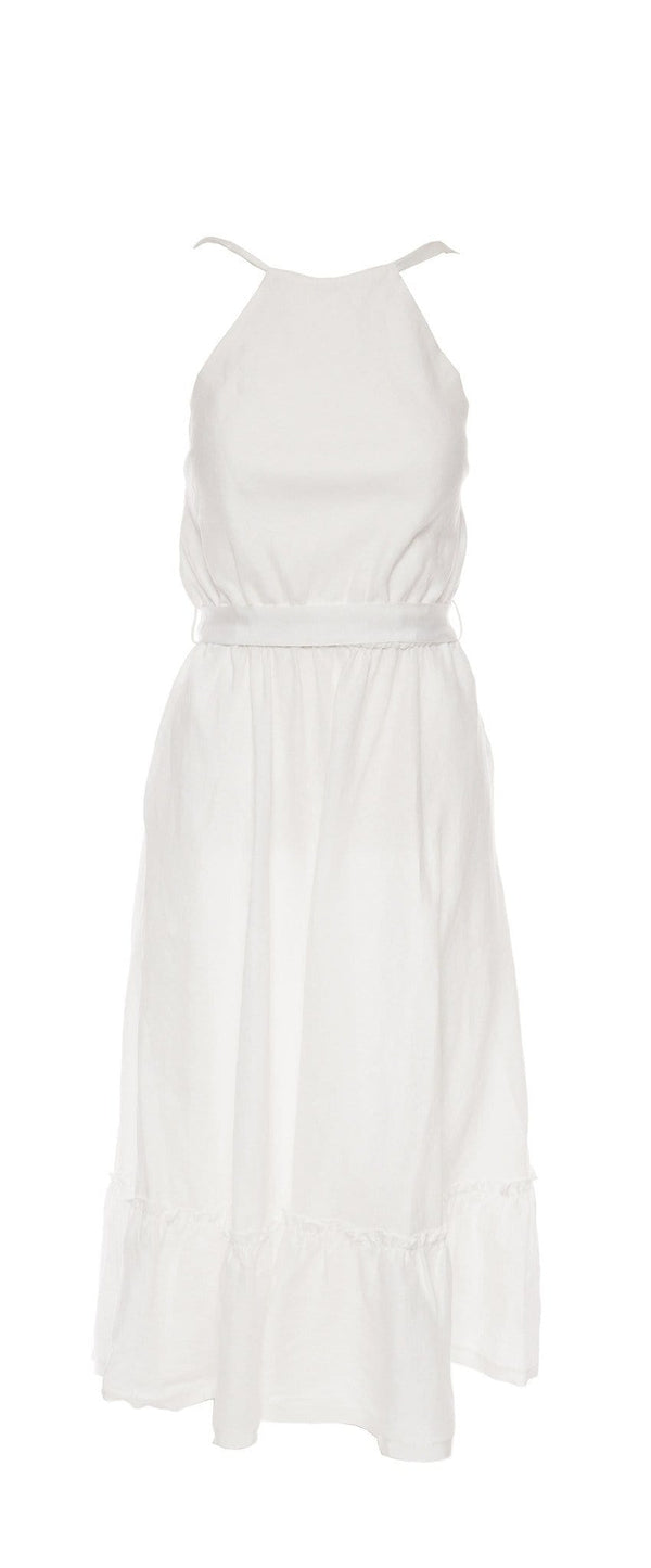 Miguelina - Amanda Linen Midi Dress