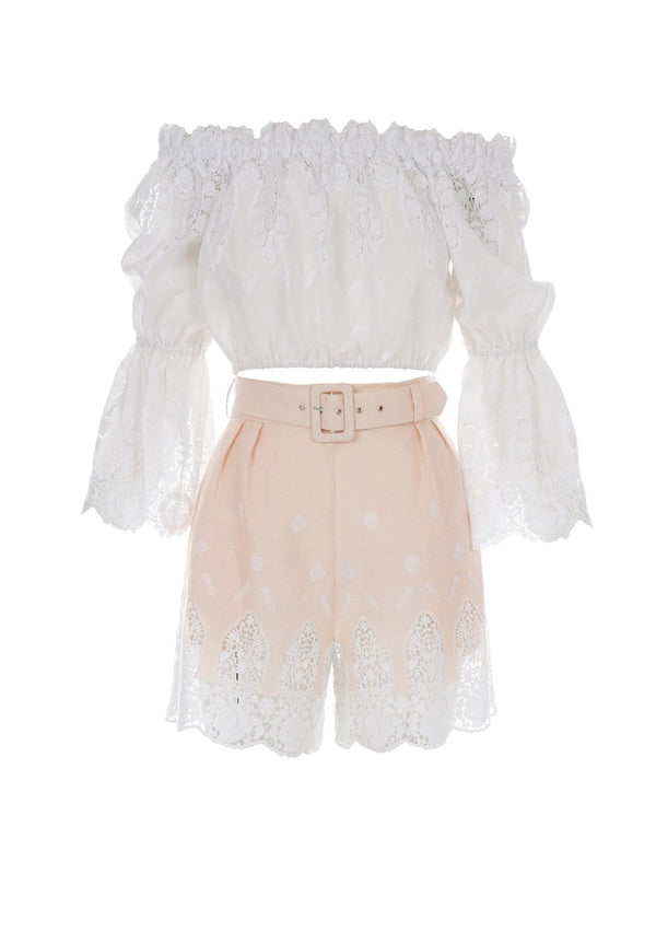 Miguelina - Liana Honey Glow Lace Shorts