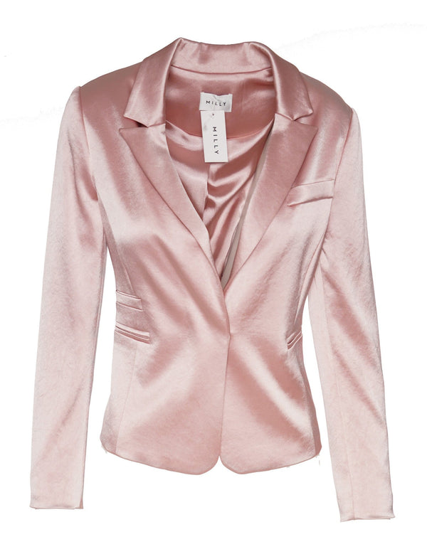 Hammered Satin Blazer