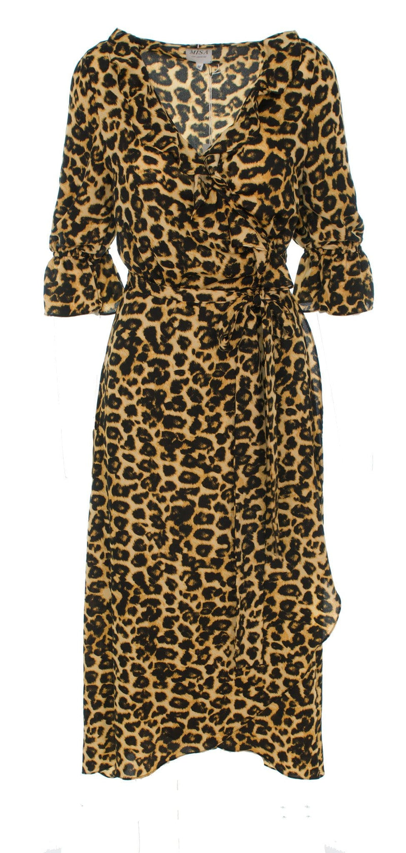 Belinda Leopard Wrap Midi Dress