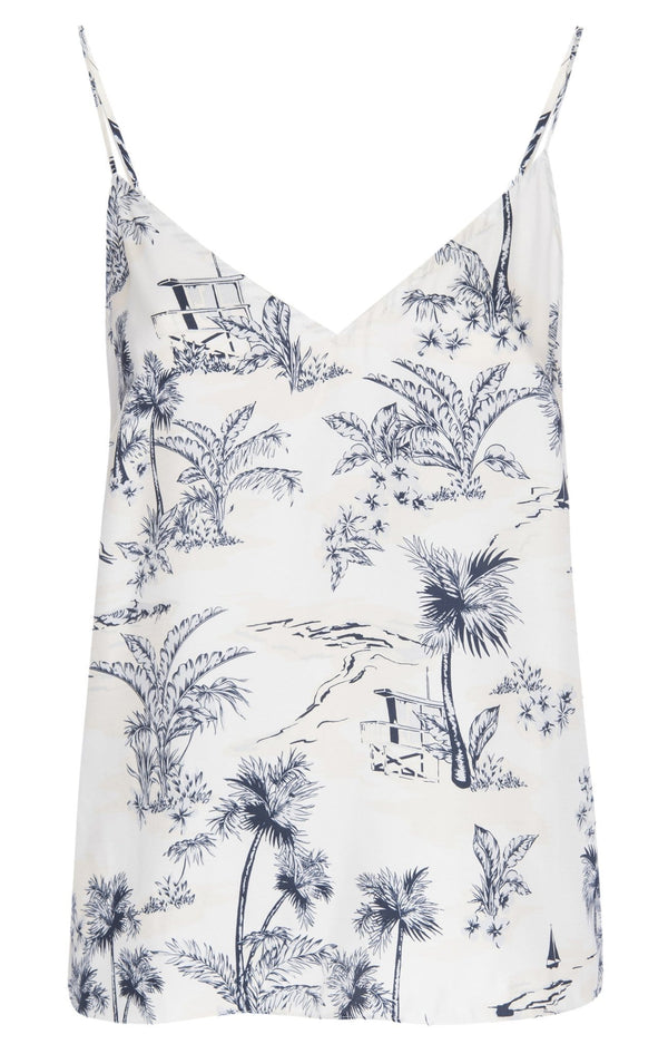 Silk Mixed Toile Cami
