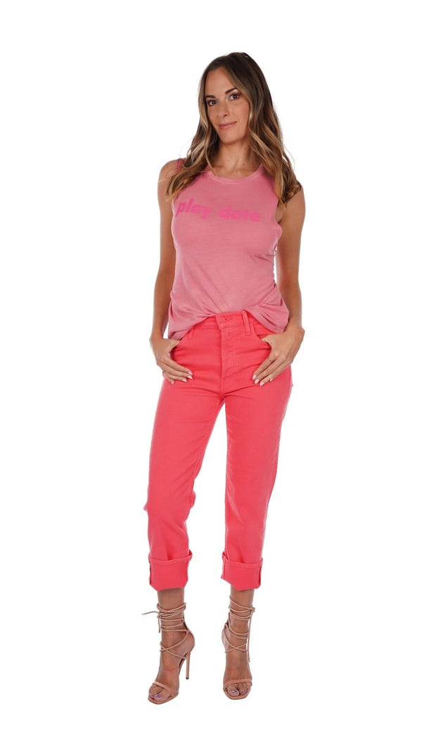 MOTHER Denim - The Tomcat Jean in Paradise Pink