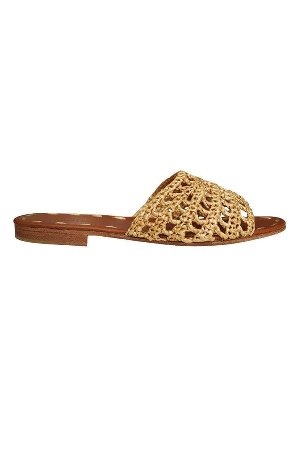 Carrie Forbes - Mour Raffia Gold Slides