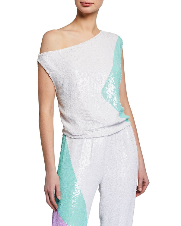 Retrofête - Michelle Sequin One Shoulder Top
