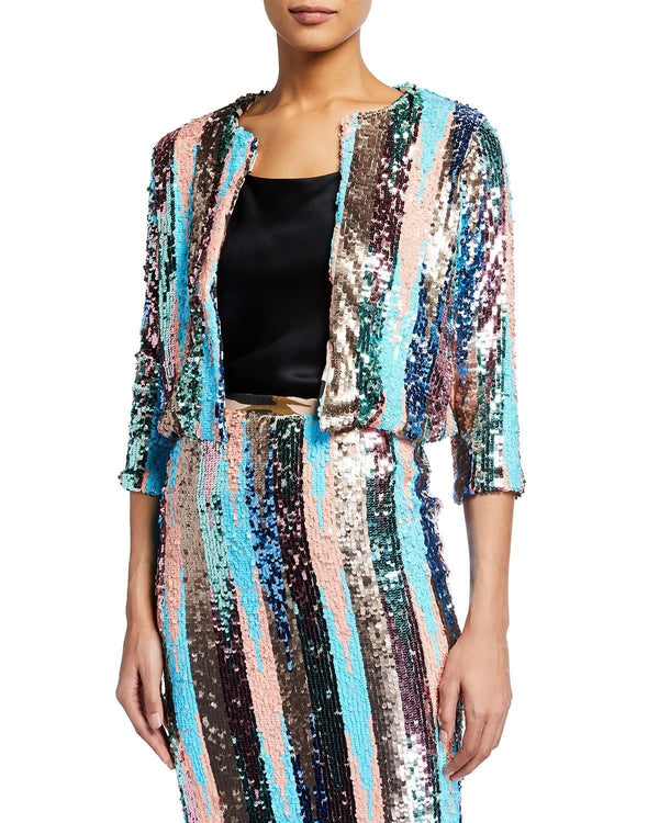 Sequin Silk Cardigan