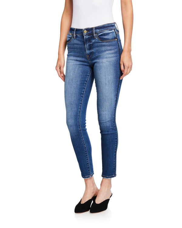 FRAME - Le High Skinny Tuxedo Piped Jean