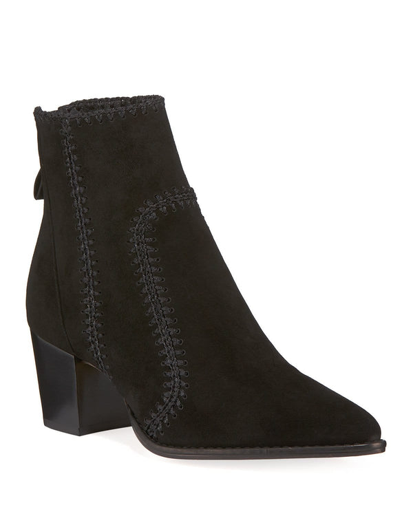 Benta Suede Stitched Ankle Boot