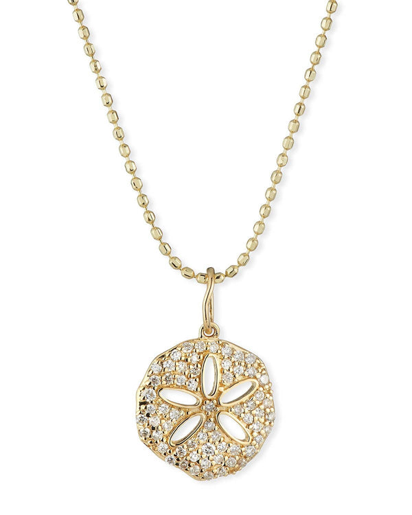 Sydney Evan Sand Dollar Charm Necklace