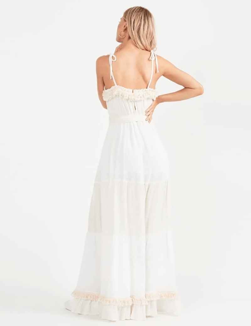 Vignette Fringe Maxi Dress