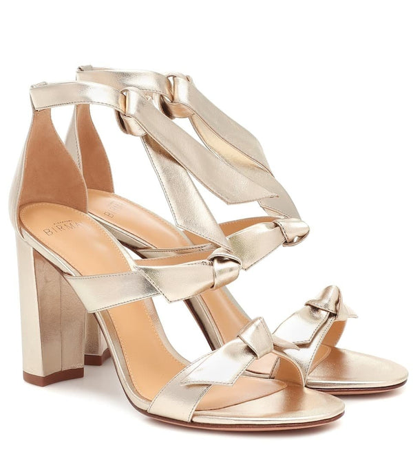 Alexandre Birman - Lolita Metallic Block Heel Sandals