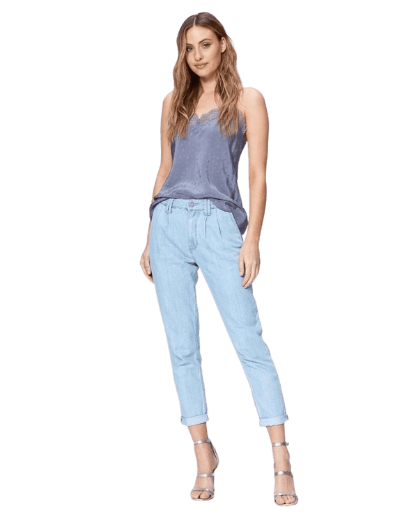 PAIGE Pleated Denim Trouser