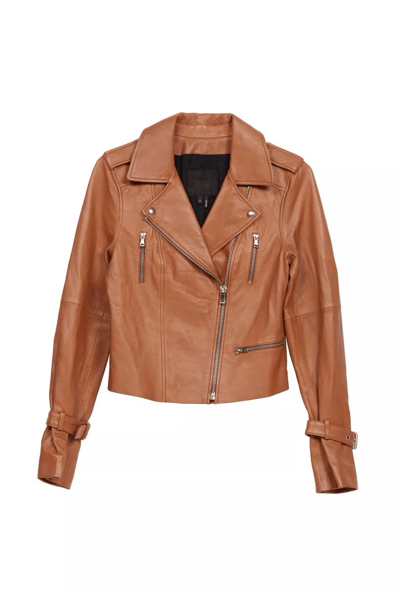 Rayven Leather Jacket in Toffee