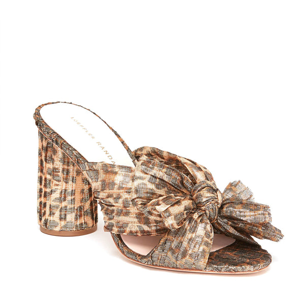 Penny Knot Mule Leopard and Gold