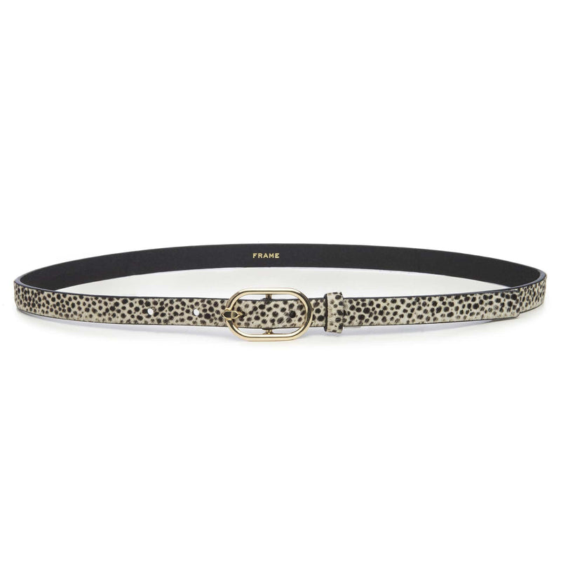Cheetah Print Petite Oval Buckle Belt