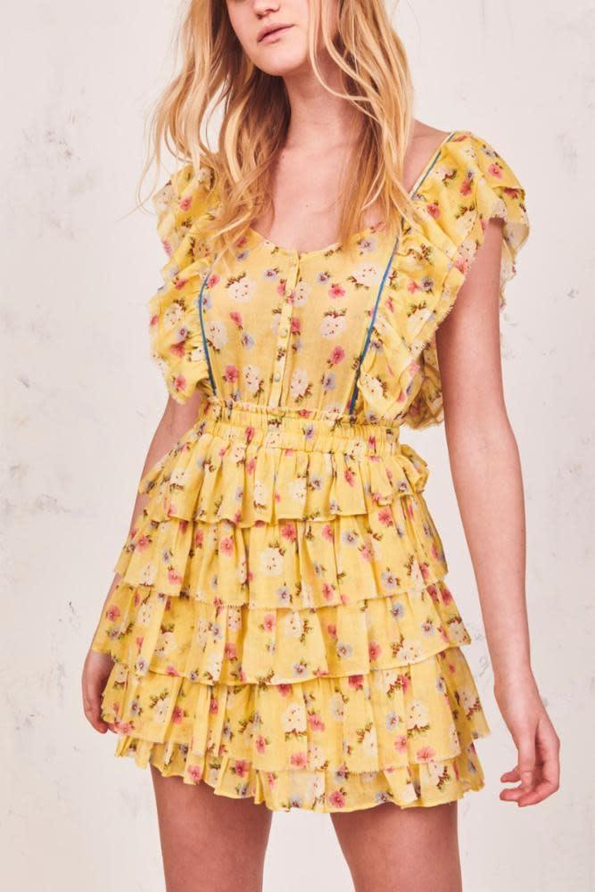Phyllis Ruffle Tiered Mini Dress