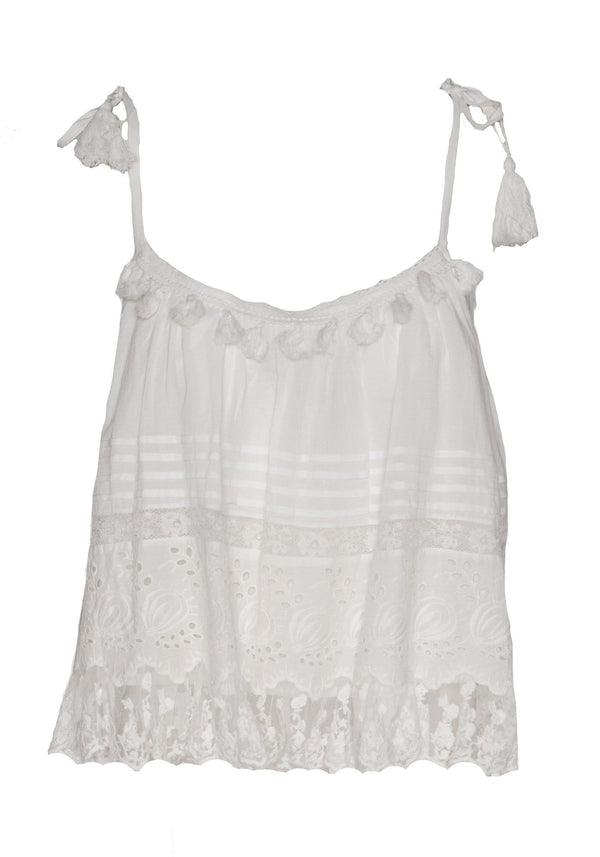Le Papillon Embroidered Cami