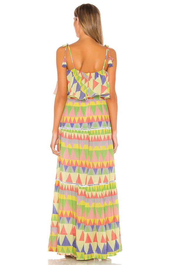 Place Nationale - Le Camu Mosaic Tiered Maxi Dress